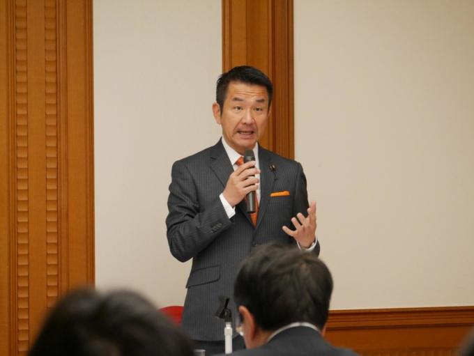 衆議院議員小田原潔氏の主催する「第75回小田原きよし政策勉強会」に、代表取締役社長・宮地勘司が登壇いたしました。